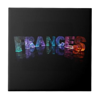 The Name Frances in 3D Lights (Photograph) Tiles