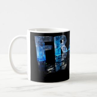 The Name Frank in 3D Lights (Photograph) Coffee Mug