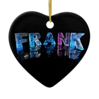 The Name Frank in 3D Lights (Photograph) Christmas Tree Ornaments
