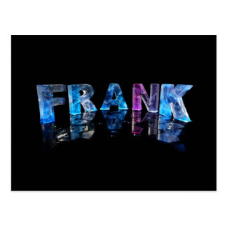 The Name Frank in 3D Lights (Photograph) Postcard
