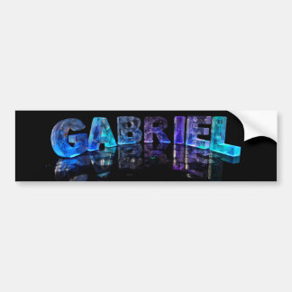 The Name Gabriel in 3D Lights (Photograph) Bumper Sticker