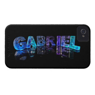 The Name Gabriel in 3D Lights (Photograph) iPhone 4 Covers