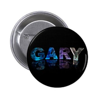 The Name Gary in 3D Lights (Photograph) Pinback Buttons