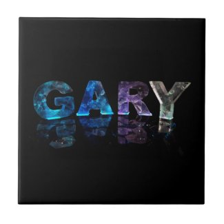 The Name Gary in 3D Lights (Photograph) Ceramic Tile