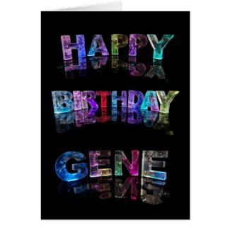 The Name Gene in 3D Lights (Photograph) Greeting Card