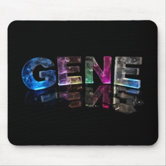 The Name Gene in 3D Lights (Photograph) Mousepads