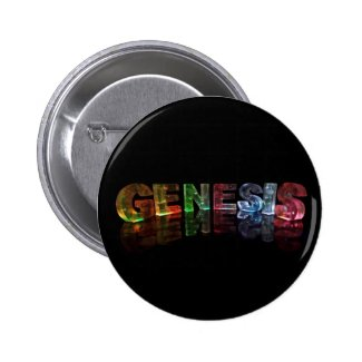 The Name Genesis in 3D Lights (Photograph) Pins