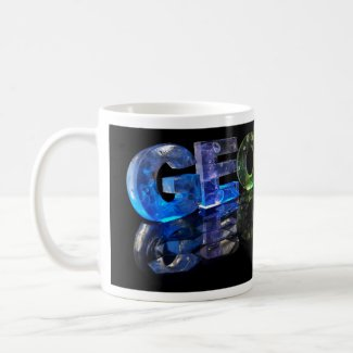 The Name George in 3D Lights (Photograph) Coffee Mug