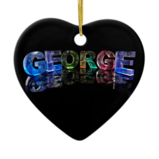 The Name George in 3D Lights (Photograph) Ornament