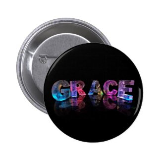 The Name Grace in 3D Lights (Photograph) Buttons
