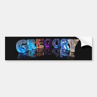The Name Gregory in 3D Lights (Photograph) Bumper Sticker