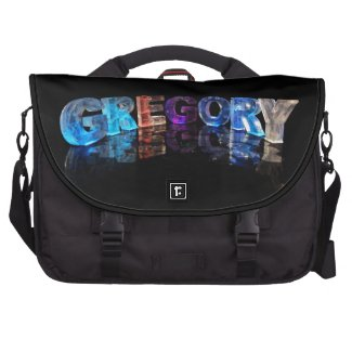 The Name Gregory in 3D Lights (Photograph) Laptop Bags