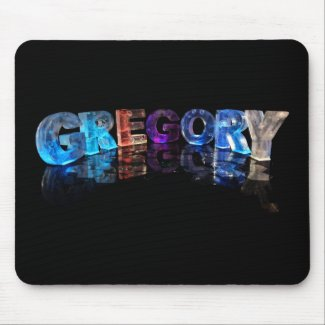 The Name Gregory in 3D Lights (Photograph) Mouse Mat