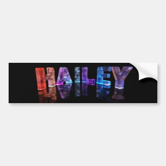 The Name Hailey in 3D Lights (Photograph) Bumper Sticker
