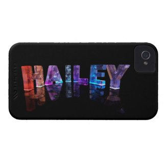 The Name Hailey in 3D Lights (Photograph) iPhone 4 Cover