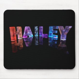 The Name Hailey in 3D Lights (Photograph) Mousemats