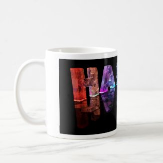 The Name Hailey in 3D Lights (Photograph) Coffee Mugs