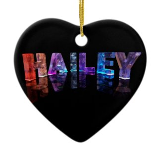 The Name Hailey in 3D Lights (Photograph) Christmas Ornament