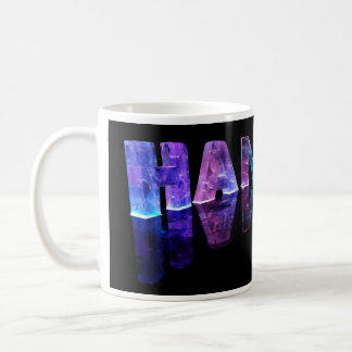 The Name Hannah in 3D Lights (Photograph) Coffee Mug