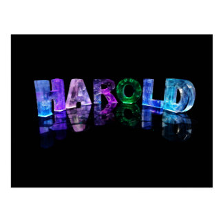 The Name Harold in 3D Lights (Photograph) Postcard