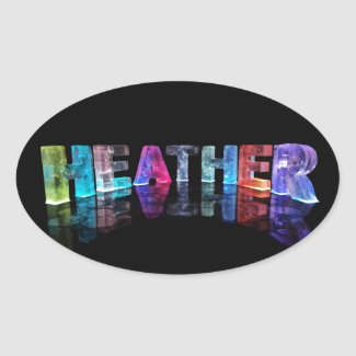 The Name Heather in 3D Lights (Photograph) Sticker