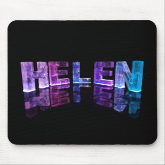The Name Helen in 3D Lights (Photograph) Mouse Pads