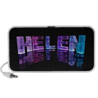 The Name Helen in 3D Lights (Photograph) Travelling Speaker