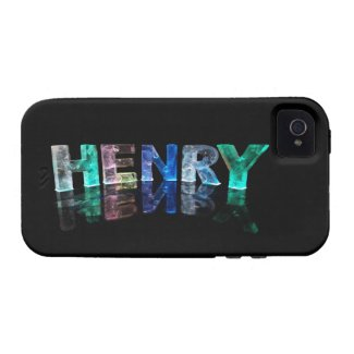 The Name Henry in 3D Lights (Photograph) iPhone 4 Cover
