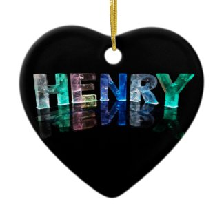 The Name Henry in 3D Lights (Photograph) Ornaments