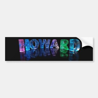 The Name Howard in 3D Lights (Photograph) Bumper Stickers