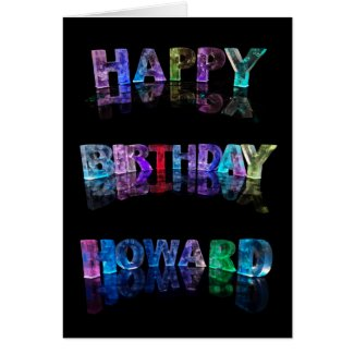 The Name Howard in 3D Lights (Photograph) Cards