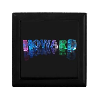 The Name Howard in 3D Lights (Photograph) Keepsake Boxes