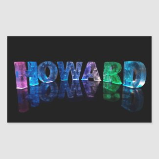 The Name Howard in 3D Lights (Photograph) Stickers