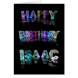 The Name Isaac in 3D Lights (Photograph) Card