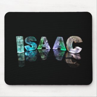 The Name Isaac in 3D Lights (Photograph) Mouse Mats