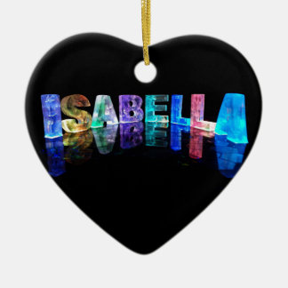The Name Isabella in 3D Lights (Photograph) Christmas Ornament