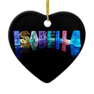 The Name Isabella in 3D Lights (Photograph) Christmas Tree Ornament