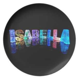 The Name Isabella in 3D Lights (Photograph) Plate