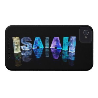The Name Isaiah in 3D Lights (Photograph) iPhone 4 Covers