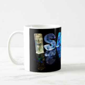 The Name Isaiah in 3D Lights (Photograph) Coffee Mug