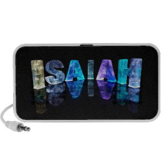 The Name Isaiah in 3D Lights (Photograph) Travelling Speakers