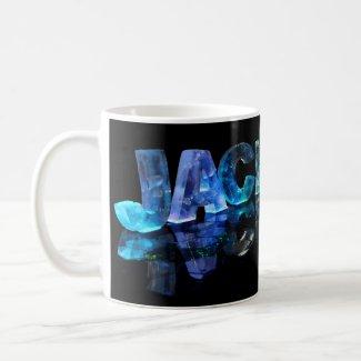 The Name Jackson in 3D Lights (Photograph) Coffee Mug