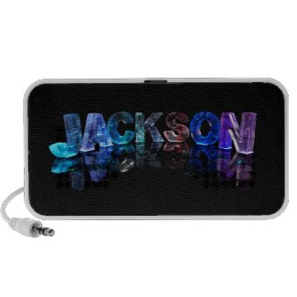 The Name Jackson in 3D Lights (Photograph) Travelling Speakers