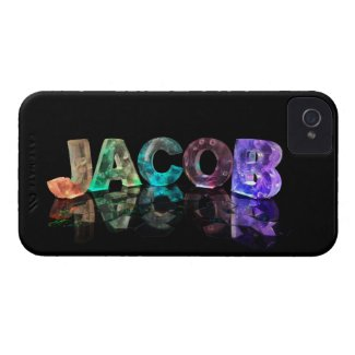 The Name Jacob in 3D Lights (Photograph) Case-Mate iPhone 4 Cases
