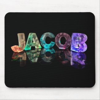 The Name Jacob in 3D Lights (Photograph) Mousepad