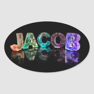 The Name Jacob in 3D Lights (Photograph) Stickers