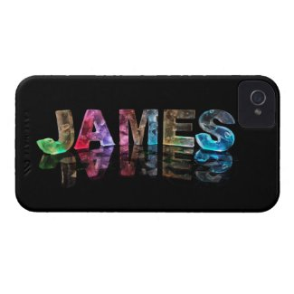 The Name James in 3D Lights (Photograph) iPhone 4 Case-Mate Cases