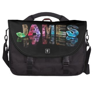 The Name James in 3D Lights (Photograph) Commuter Bag