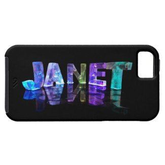 The Name Janet in 3D Lights (Photograph) iPhone 5 Case