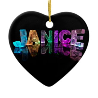 The Name Janice in 3D Lights (Photograph) Ornaments